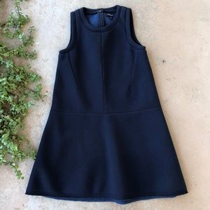 Madewell Navy Neoprene Drop Waist Swing Dress